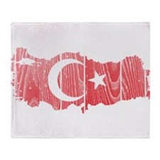 Turkey Flag And Map Throw Blanket