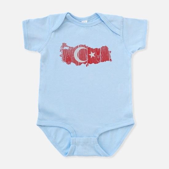 Turkey Flag And Map Infant Bodysuit