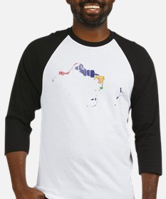 Turks And Caicos Islands Flag And Map Baseball Jer