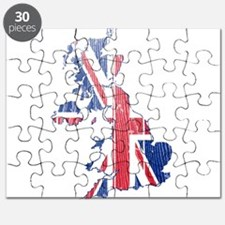 United Kingdom Flag And Map Puzzle