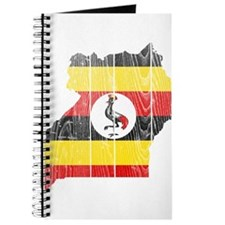 Uganda Flag And Map Journal