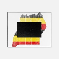 Uganda Flag And Map Picture Frame
