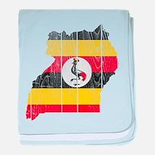 Uganda Flag And Map baby blanket