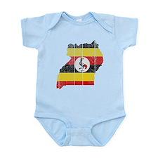 Uganda Flag And Map Infant Bodysuit