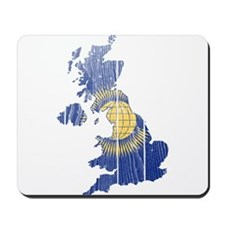 United Kingdom Commonwealth Flag And Map Mousepad