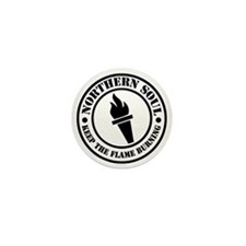 Retro northern Soul Torch Fla Mini Button