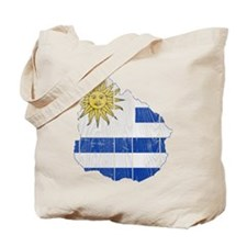 Uruguay Flag And Map Tote Bag