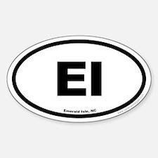 Emerald Isle North Carolina EURO Oval Decal