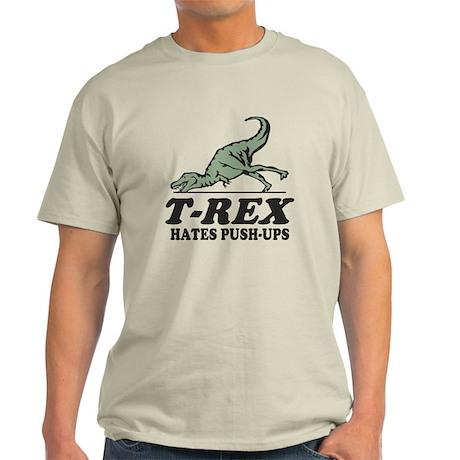 T-REX Hates Pushups Light T-Shirt