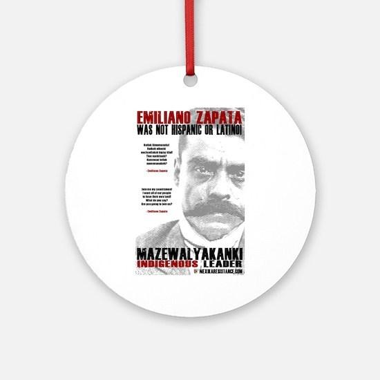 Emiliano Zapata: Indigenous Leader Ornament (Round