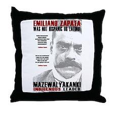 Emiliano Zapata: Indigenous Leader Throw Pillow