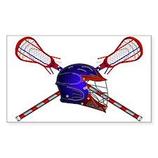 Lacrosse Helmet with sticks Decal