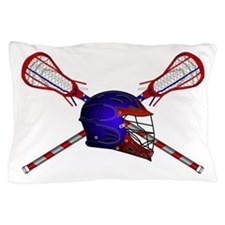Lacrosse Helmet with sticks Pillow Case