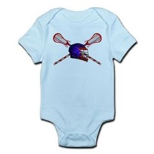 Lacrosse Helmet with sticks Infant Bodysuit