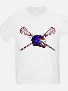 Lacrosse Helmet with sticks T-Shirt