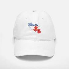 Yugoslavia Star Flag And Map Baseball Baseball Cap