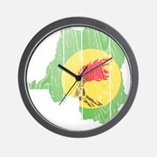 Zaire Flag And Map Wall Clock