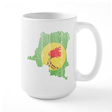 Zaire Flag And Map Mug