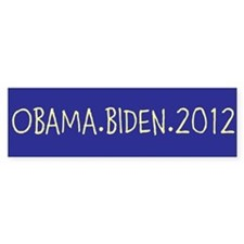 OBAMA.BIDEN.2012 Bumper Sticker