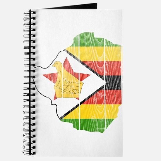 Zimbabwe Flag And Map Journal