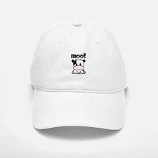 Moo? Cow Baseball Baseball Cap