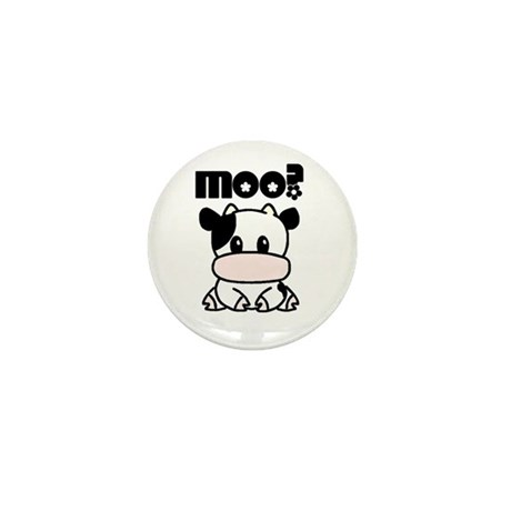 Moo? Cow Mini Button (10 pack)