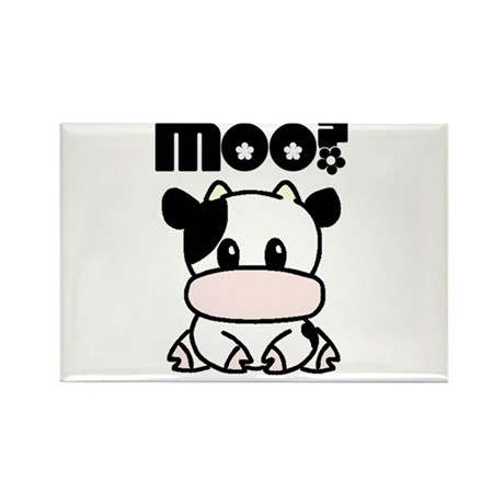 Moo? Cow Rectangle Magnet