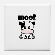 Cute Moo? Tile Coaster