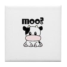 Moo? Cow Tile Coaster