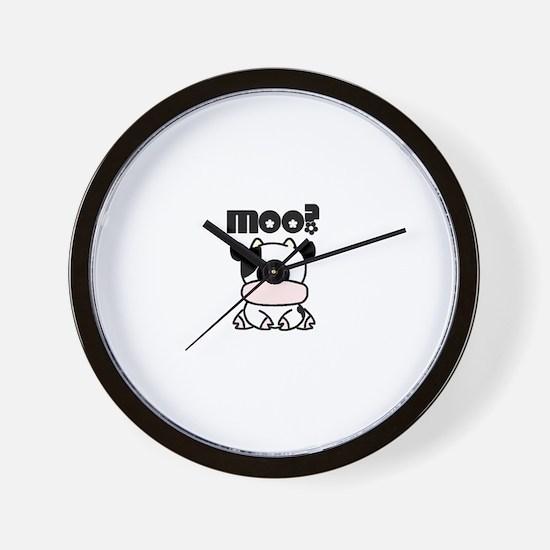 Cute Moo? Wall Clock