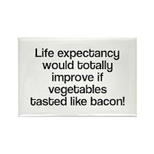 Vegetables Tasted Like Bacon Rectangle Magnet