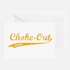 Choke-out (orange) Greeting Card