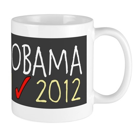 BARACK OBAMA JOE BIDEN check 2012 Mug