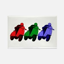 RGB Scooter racer Rectangle Magnet