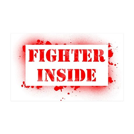 Fighter Inside (red) 35x21 Wall Decal