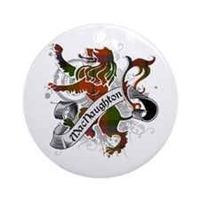 MacNaughton Tartan Lion Ornament (Round)