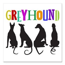 """Tails of Love Square Car Magnet 3"""" x 3"""""""