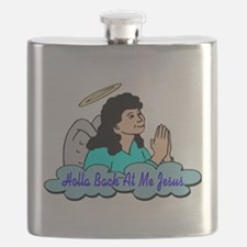 Holla Back At Me Jesus Flask