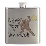 Moon A Werewolf Flask
