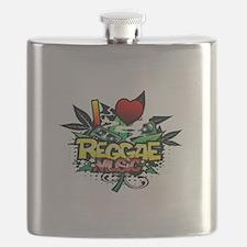 I Heart Reggae Music Flask