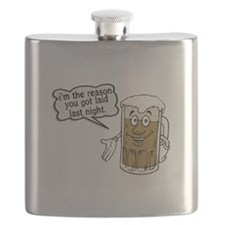 Beer Is The Reason Flask
