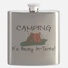 Beary In-Tents Flask
