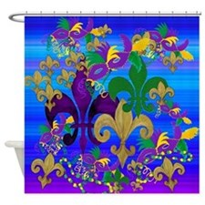 Mardi Gras Psycadelic Shower Curtain