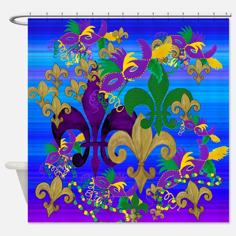 Mardi Gras Psycadelic Shower Curtain