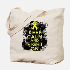 Ewings Sarcoma Keep Calm Fight On Tote Bag