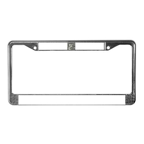 snowleopard design License Plate Frame