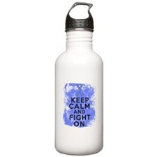 Esophageal Cancer Keep Calm Fight Water Bottle