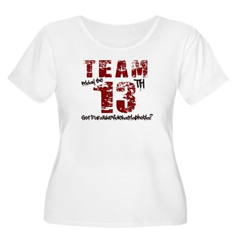 TEAM FRIDAY THE 13TH Women's Plus Size Scoop Neck