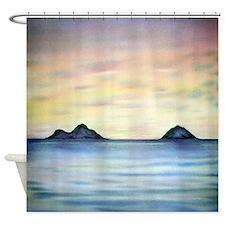 Mokulua Islands Sunrise Painting Shower Curtain