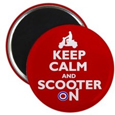 """Keep Calm Scooter On (2) 2.25"""" Magnet (10 pack)"""